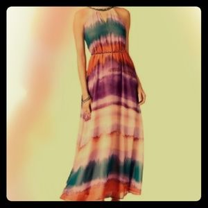 Jessica Simpson flowy striped maxi dress MEDIUM